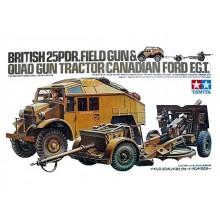 1:35 BRITISH 25PDR.FIELD GUN & QUAD GUN TRACTOR(CANADIAN FORD F.G.T.)