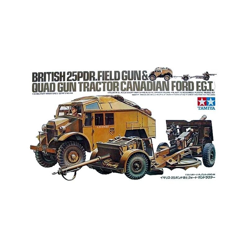 1:35 BRITISH 25PDR FIELD GUN & QUAD GUN TRACTOR(CANADIAN FORD F G T )