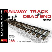 1:35 RAILWAY TRACK w/ DEAD END. EUROPEAN GAUGE