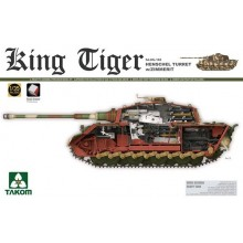 1:35 WWII German Heavy Tank Sd.Kfz.182 King Tiger Henschel Turret w/Zimmerit and interior