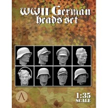1:35 WWII GERMAN HEADS SET