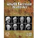 1:35 WWII GERMAN HEADS SET