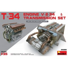 T-34 Engine V-2-34 & TRANSMISSION SET 1:35