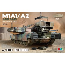 1:35 M1A1/ A2 Abrams w/Full Interior 2 in 1