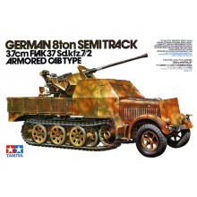 1:35 German 8ton Semi Track 3.7 cm FLAK 37 Sd.Kfz.7/2