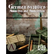 GERMAN SUPPLIES - AMMO BOX AND AMMUNITION 1 88mm TIGER