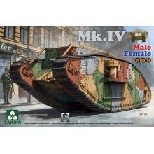 1:35 WW I Heavy Battle Tank Mk.IV 2 in 1