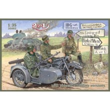 1:35 BMW R12 with sidecar - militar version ( 2 in 1)
