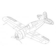 Buffalo F2A-1/2/3 - control surfaces seT 1:48