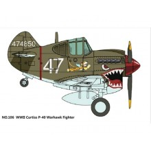 TIGER MODEL: Cute U.S P-40 Warhawk Fighter