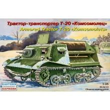 Soviet Armored Tractor T-20 KOMSOMOLETS