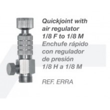 Quickjoint with air regulator 1/8 F to 1/8 M