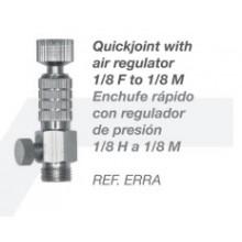 Enchufe rápido con regulador de aire 1/8 H a 1/8M