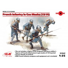 1:35 French Infantry in Gas Masks (1916)