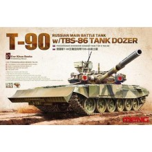 1:35 Russian Main Battle Tank T-90 w/TBS-86 Tank Dozer