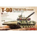 1:35 Russian Main Battle Tank T-90 w/TBS-86 Tank Dozer