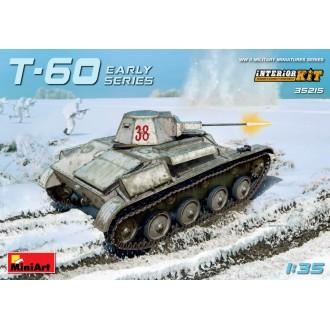 T-60 EARLY SERIES. SOVIET LIGHT TANK. INTERIOR KIT 1:35