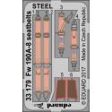 Fw 190A-8 seatbelts steel 1/32