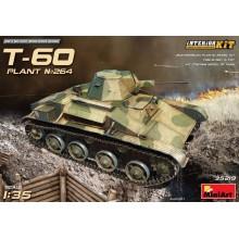 1:35 T-60 EARLY SERIES. SOVIET LIGHT TANK. INTERIOR KIT