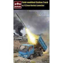 Filed-Modified Civilian Truck w/122mm Rocket Launcher 1:35
