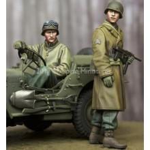 1/35 WW2 US NCO & Driver Set - 2 figs