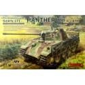 1:35 German Medium Tank Sd.Kfz.171 PANTHER con cañon metalico