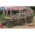 British Airborne Troops Riding In 1/4 Ton Truck & Trailer 1:35