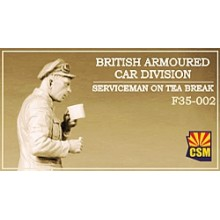 British Armoured Car Division Serviceman on Tea Break 1:35
