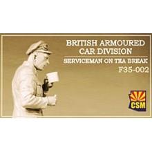 British Armoured Car Division Serviceman on Tea Break 1:35