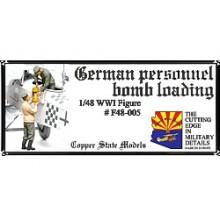 German personnel - bomb loading 1:48