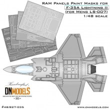 RAM Panels Paint Masks for F-35A Lightning II 1/48