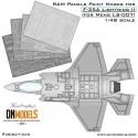 RAM Panels Paint Masks for F-35A Lightning II 1/48