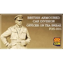 British Armoured Car Division Officer on Tea Break 1:35