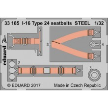 I-16 Type 24 seatbets STEEL 1/32