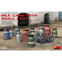 1:35 MILK CANS WITH SMALL CART