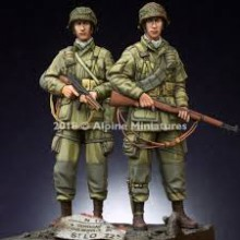 1/35 US 101st Airborne Trooper WWII - 2 figs