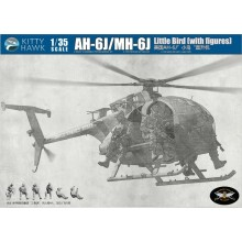 1:35 AH-6J/MH-6J LITTLE BIRD NIGHTSTALKER W/ 4 RESIN FIGURES