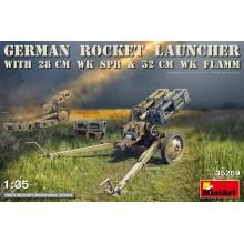 GERMAN ROCKET LAUNCHER with 28cm WK Spr & 32cm WK Flamm