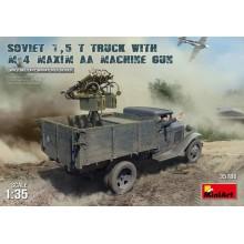 1:35 SOVIET 1,5 t. TRUCK w/ M-4 Maxim AA Machine Gun