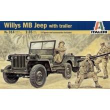 Jeep Willys con Remolque