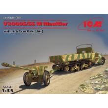 1:35 V3000S/SS M Maultier with 7,62 cm Pak 36(r)