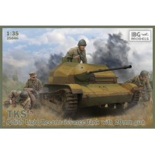 TKS Tankette with 20mm Gun (includes metal barrel and 2 figures)