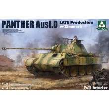 PRE-ORDER 1:35 WWII German Sd.Kfz.171 Panther Ausf.D Late production w/ Zimmerit/ full interior kit