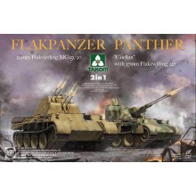 "1:35 Flakpanzer Panther ""Coelian"" with 37mm Flakzwilling 341 & 20mm flakvierling mg151/20 2 in 1"