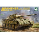 1:35 WWII German medium Tank Sd.Kfz.171/267 Panther A late production w/ full interior kit 2 in 1