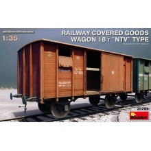 "PRE-ORDER RAILWAY COVERED GOODS WAGON 18t ""NTV"" TYPE"