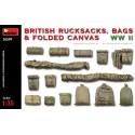 1:35 BRITISH RUCKSACKS, BAGS & FOLDED CANVAS WW2
