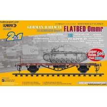 German Railway Flatbed Ommr (Flachwagen Ommr) Value Pack