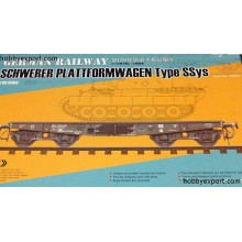 1:35 GERMAN RAILWAY SCHWERER PLATTFORMWAGEN TYPE SSYS