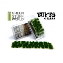 Grass TUFTS - 6mm self-adhesive - DARK GREEN